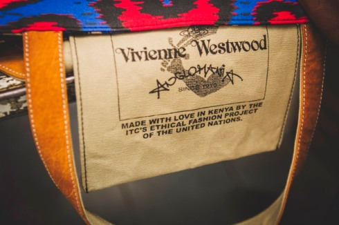 Vivienne Westwood x Ethical Fashion Initiative 10th Anniversary bag made in Kenya