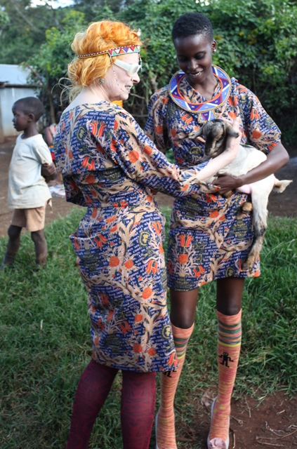 Vivienne Westwood and Team visit Kenya with Ethical Fashion Initiative,  photo courtesy of ITC Ethical Fashion Initiative
