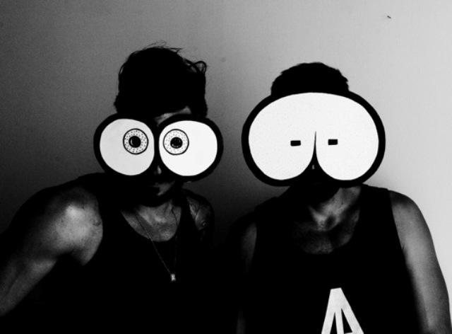 The tithead masks by Bert Gilbert, photo courtesy of Bert Gillbert