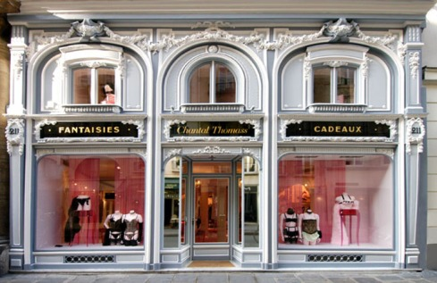 The Paris boutique of Chantal Thomass, photo courtesy of Chantal Thomass