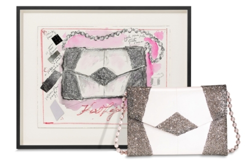Le Spectre de la Rose handbag by Karl Lagerfeld, photo courtesy of Artnet.com