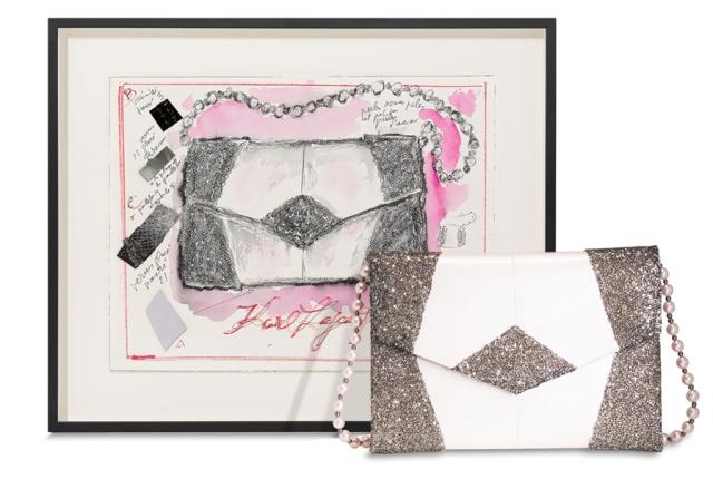 Le Spectre de la Rose handbag by Karl Lagerfeld, photo courtesy of Artnet.com