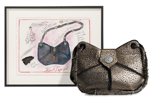 City butterfly handbag by Karl Lagerfeld, photo courtesy of Artnet.com