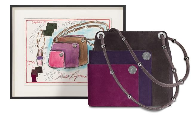 Crescendo handbag by Karl Lagerfeld, photo courtesy of Artnet.com