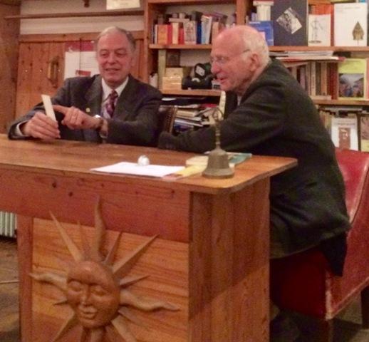 Edoardo Quarantelli and Francesco Roat at the Rome Aseq bookshop, photo by N