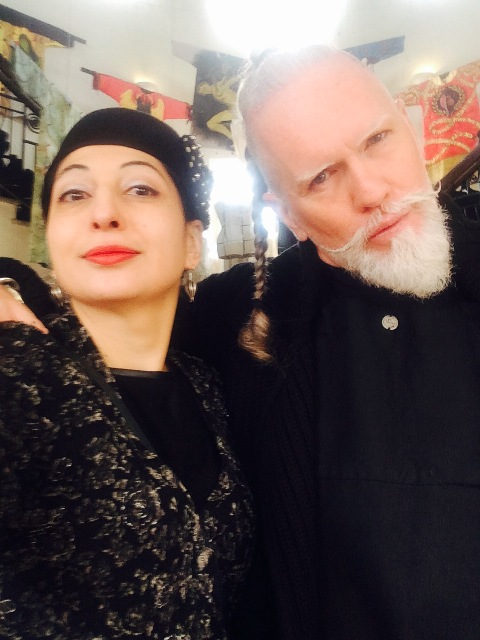 Me. myself & I along with Adrien Yakimov Roberts at the Rome Costume & Fashion Academy, photo by N