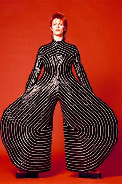 David Bowie wearing a catsuit by Kansai Yamamoto