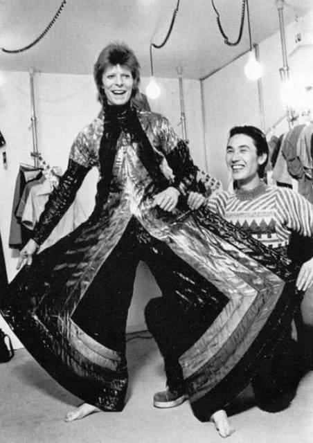David Bowie and Kansai Yamamoto