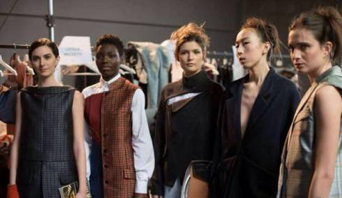 The models at the backstage of fashion show wearing the creations by Deniza Nugnes, photo courtesy of Deniza Nugnes