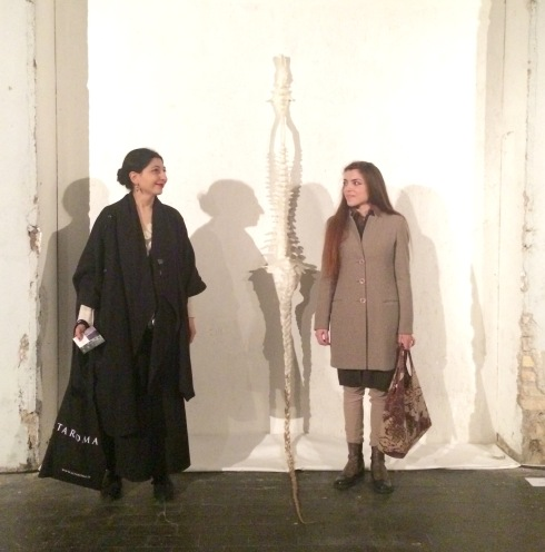 Me, myself & I along with Sacha Turchi and the work she made, photo by N