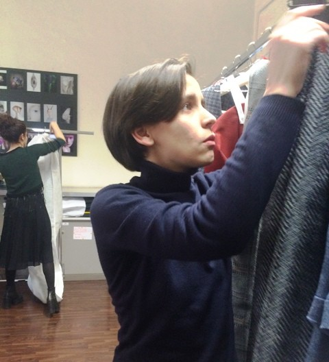 Deniza Nugnes and Ilaria Fiore at work during the fitting of Talents' 2016 fashion show, photo by N