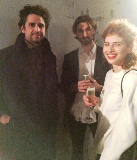 Fabio Quaranta (fashion designer and professor at the Iuav University of Venice) along with Giacomo Frasson and Giulia Roman, photo by N