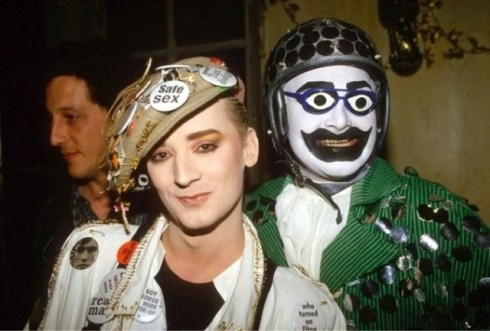 Boy George and Leigh Bowery at the Taboo