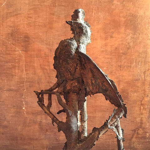 Bronze sculpture by Nico Vascellari which will be onn show at Villa Medici