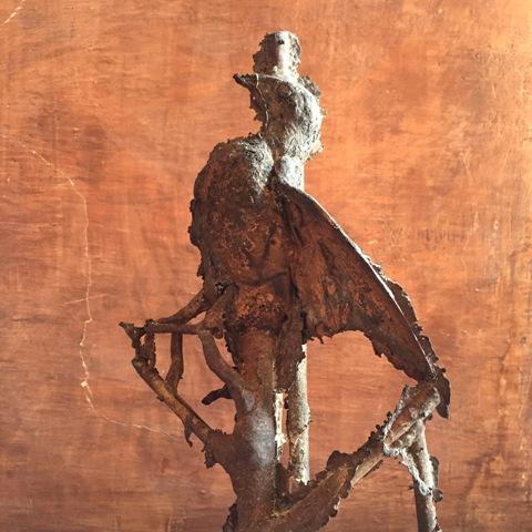 Bronze sculpture by Nico Vascellari which will be onn show at Villa Medici