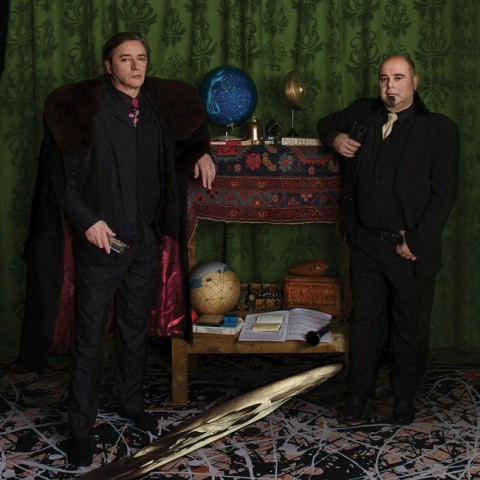 "Blixa Bargeld and Teho Teardo, still image from the music video ""The Beast"""