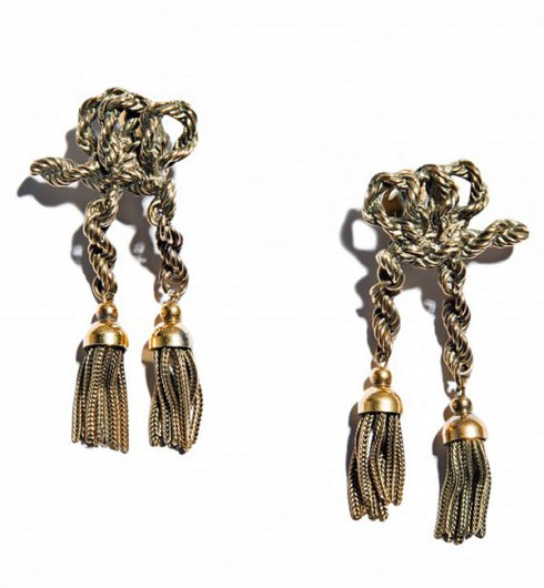 Karl Lagerfeld knot earrings, 1980s ($605), photo courtesy of Hint Magazine