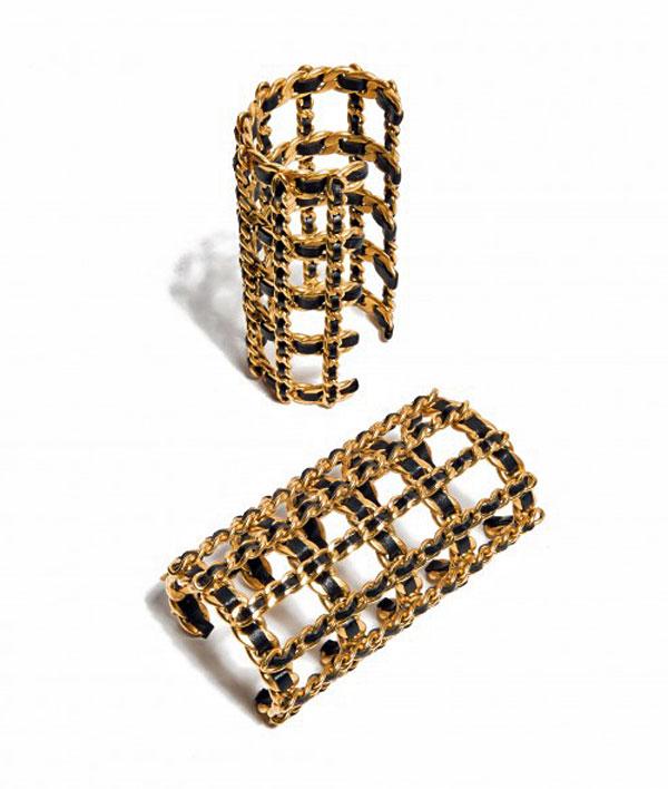 Chanel cage cuff bracelet, 1990s ($1,150), photo courtesy of Hint magazine