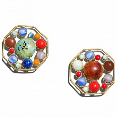 Chloé octagon earrings by Ugo Correani, 1970s ($605), photo courtesy by Hint magazine