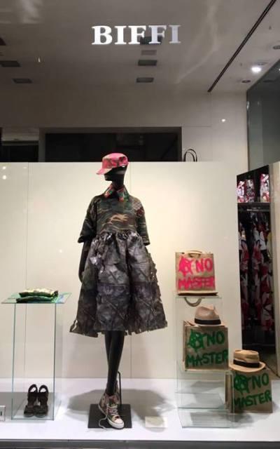 """""""Art is Resistance"""" by Naco Paris at Biffi boutique, photo courtesy of Naco Paris"""