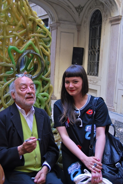 Gaetano Pesce and Jasmin Schroeder, photo by Jasmin Schroeder