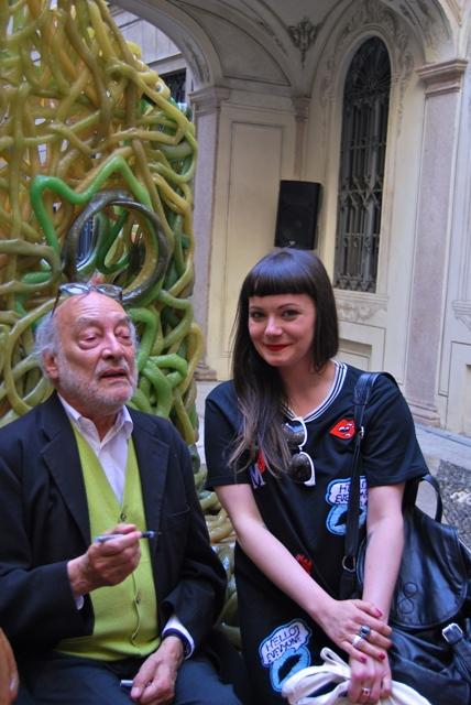 Gaetano Pesce and Jasmin Schroeder, photo by Jasmin Schroeder