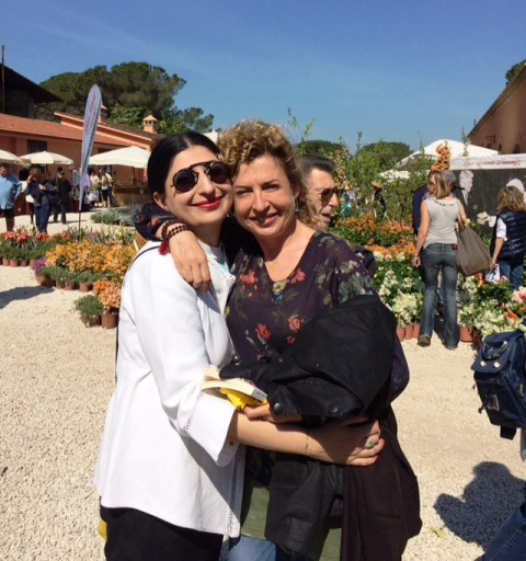 Me, myself & I along with Ilaria Venturini Fendi at Floracult