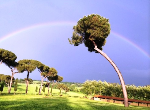Over the rainbows at I Casali del Pino, photo by N