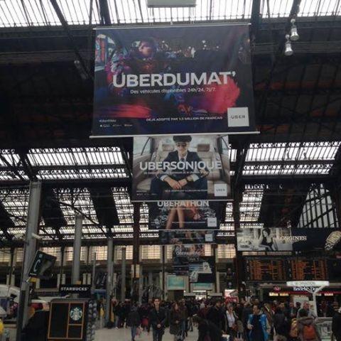The commercial ft. Naco Paris in the Paris Gare de Lyon railway station, photo by France de Griessen, courtesy of Naco Paris