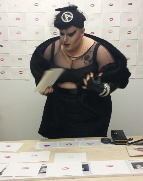 """Kiss"", performance by Naco Paris as Madame Paris at Front de Mode, photo by N"