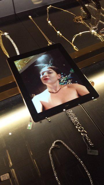 Me, myself & I in Iosselliani, wearing Iosselliani, framed by Iosselliani, photo on photo by Sandra Nunzi & N