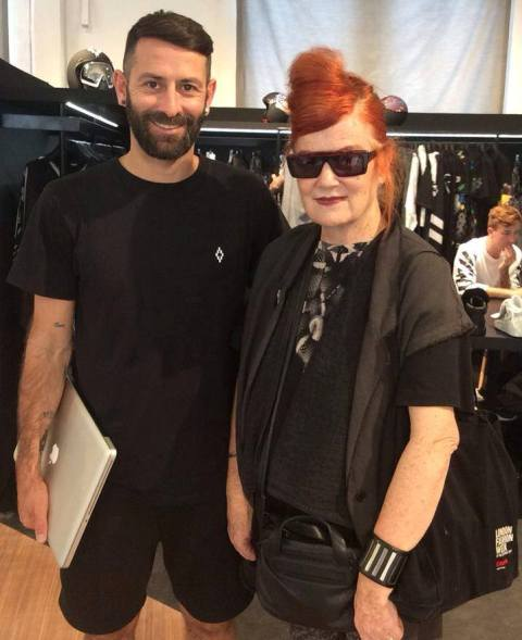 The one and only Roberta Valentini along with Marcelo Burlon, photo courtesy of Alessandro Boccingher