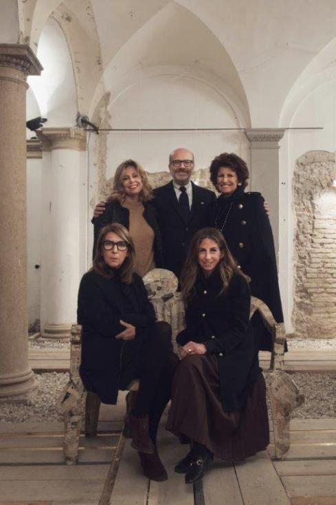 The founders of Abito: Simona Barbieri, Italo Scaietta, Bruna Casella, Manuela Galli, Constanza Zukierman, photo courtesy of Abito
